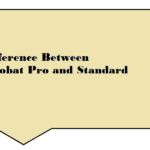 Difference between Acrobat Pro and Standard